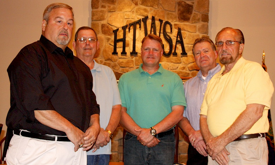 The 2016 HTWSA Board. From left: M. Rocky Wright, Keith D. Weiss, Bruce K. Knipe, John S. Rankin, and Frank Beck